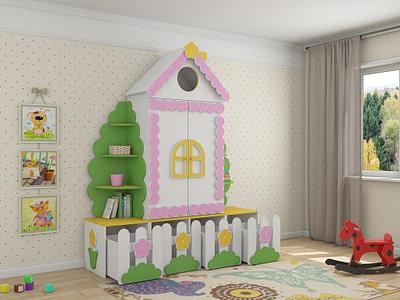 Мебель для детской комнаты шкафы Избушка