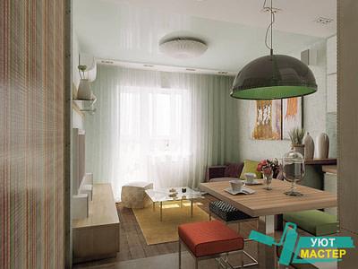 Ремонт однокомнатной квартиры под ключ в Новосибирске