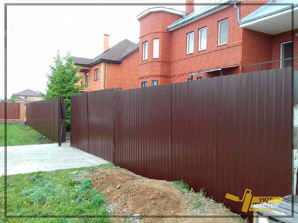 Забор из профнастила 60 пм