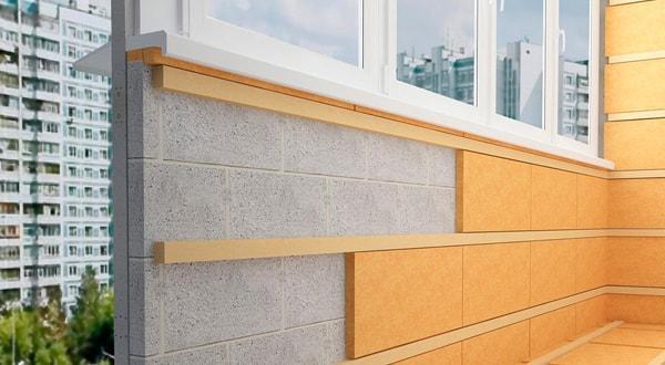 Утепление балконов и лоджий пеноплексом