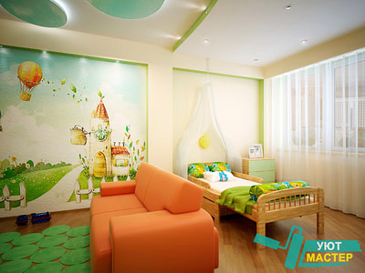 Ремонт детской комнаты цена.