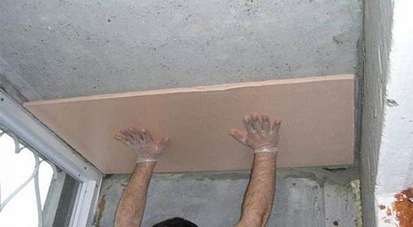 Утепление потолка на балконе или лоджии, утепление балкона пеноплексом