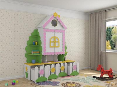 Мебель для детской комнаты шкафы заказать в Ульяновске