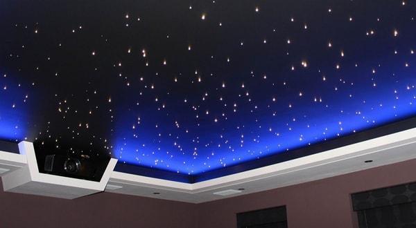 Натяжные потолки звездное небо.