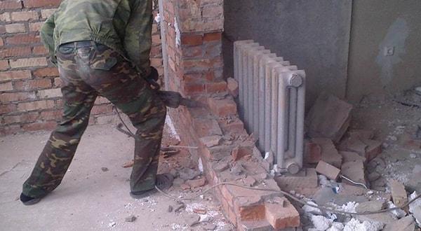 Снос кирпичных стен под ключ