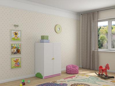 Мебель для детской комнаты шкафы Ромашка