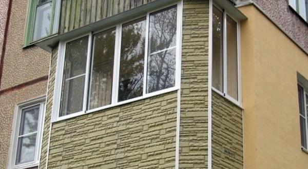 Наружная отделка балкона, отделка балкона снаружи.