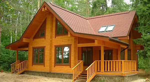 Строительство домов из профилированного бруса недорого.