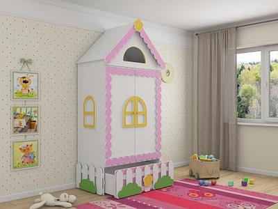Мебель для детской комнаты шкафы Теремок