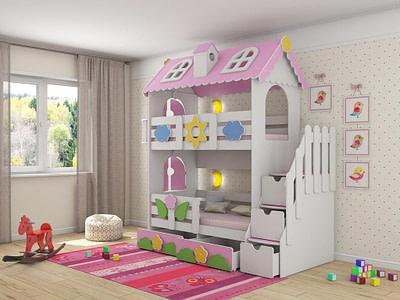 Детская мебель кровати двухъярусные для детской комнаты