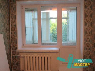Балконные блоки, пластиковые двери на балкон в Новосибирске