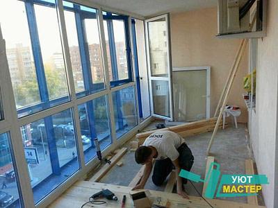 Ремонт балкона, отделка балконов и лоджий под ключ цена в Новосибирске