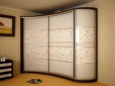Заказать шаф купе на заказ двери с декор стекло шкаф купе в Новосибирске