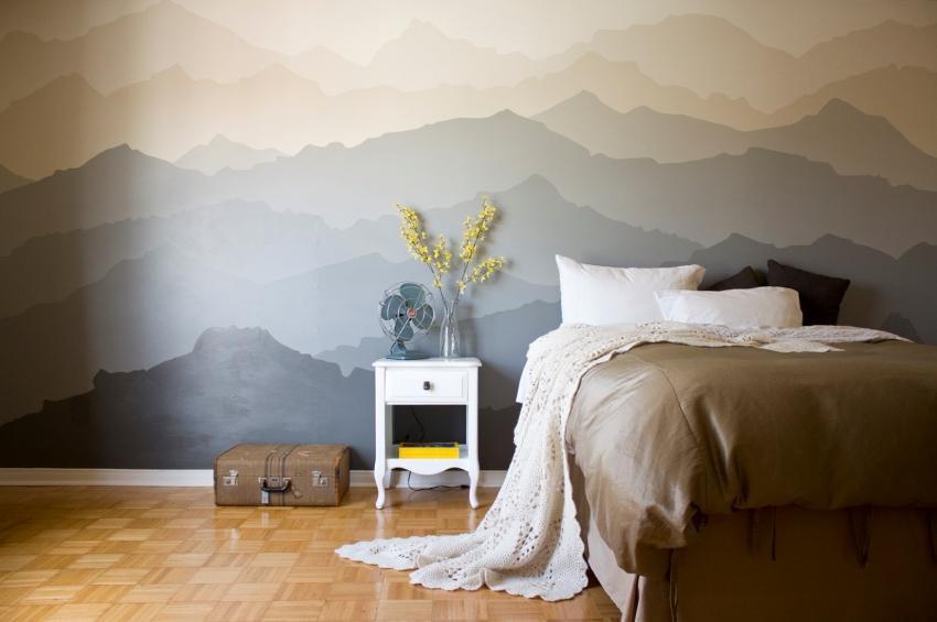 Покраска стен: этапы, особенности, технология процесса дизайн проект интерьер примеры работ идеи фото