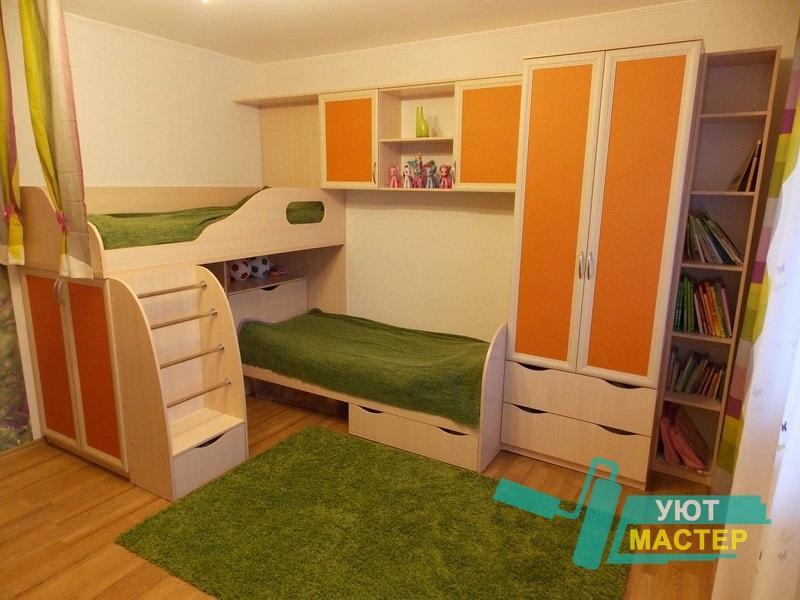 Детская корпусная мебель для детской заказать в компании Уют Мастер Новосибирск
