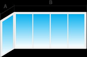 Г-образное остекление балконов и лоджий