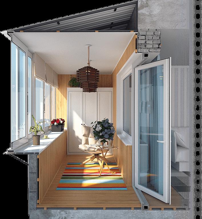 Балконы и лоджии под ключ в Новосибирске