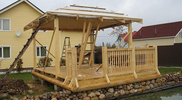 Строительство деревянных беседок в короткие сроки недорого.