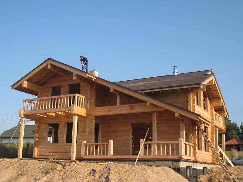 Строительство деревянных домов под ключ из клееного бруса