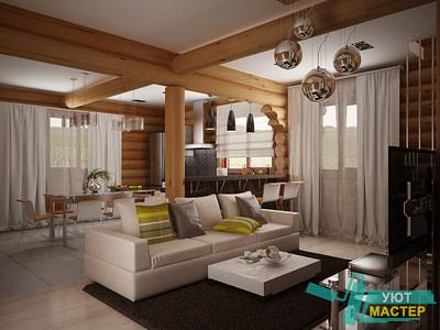 Разработка дизайна коттеджа в Новосибирске комплекс работ по разработке дизайн проекта загородного дома.