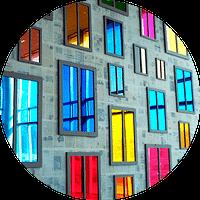 Пластиковые окна Новосибирск цветные стеклопакеты