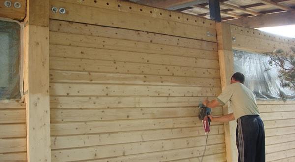 Брусовые стены недорого. Монтаж брусовых стен под ключ.